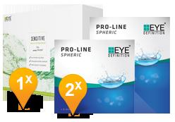 EyeDefinition Pro-Line Spheric & Sensitive Plus MPS Promo Pack
