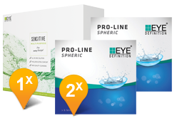EyeDefinition Pro-Line Spheric & Sensitive Plus MPS Promo Pack