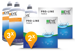 EyeDefinition Pro-Line Toric & Soft Peroxide Solution Promo pack