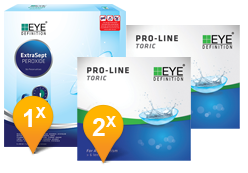 EyeDefinition Pro-Line Toric & ExtraSept Pack Promo