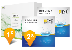EyeDefinition Pro-Line Multifocal & Sensitive Plus MPS Promo Pack