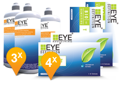 EyeDefinition Bio Sensitive Toric & Soft Peroxide Solution Promo pack