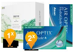 Air Optix HydraGlyde Astigmatism & EyeDefinition SENSITIVE Pack Promo
