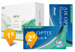 Air Optix Astigmatism & EyeDefinition Sensitive Plus MPS Promo Pack