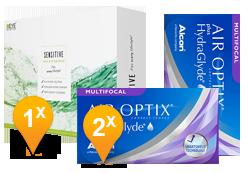 Air Optix HydraGlyde Multifocal & EyeDefinition SENSITIVE Pack Promo