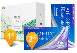 Air Optix HydraGlyde Multifocal & EyeDefinition SENSITIVE Promo Pack