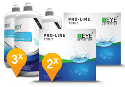EyeDefinition Pro-Line Toric & Pro-Vitamin B5 MPS Promo Pack