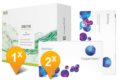 Biofinity & Sensitive Plus MPS Promo Pack