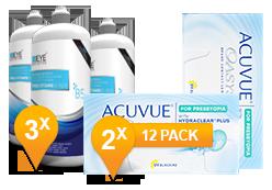 Acuvue Oasys Presbyopia & Pro-Vitamin B5 MPS Promo Pack