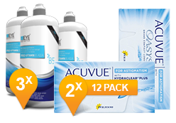 Acuvue Oasys Astigmatism & Pro-Vitamin B5 MPS Promo Pack