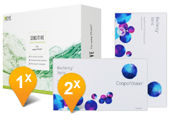 Biofinity Toric & EyeDefinition SENSITIVE  Promo Pack