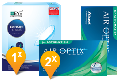 Air Optix Astigmatism & EyeDefinition ExtraSept Pack Promo