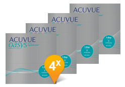 ACUVUE OASYS® 1-Day avec HydraLuxe Pack Promo semestriel