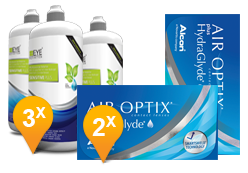 Air Optix plus HydraGlyde & Sensitive Plus MPS Promo Pack