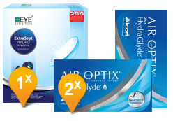 Air Optix plus HydraGlyde & EyeDefinition ExtraSept Promo Pack