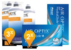 Air Optix plus HydraGlyde & Soft Peroxide MPS Promo Pack