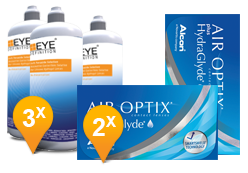 Air Optix plus HydraGlyde & Soft Peroxide MPS Promo Pack