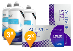 ACUVUE® VITA™ & EyeDefinition Pro-Vitamin B5 MPS Promo Pack