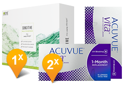 ACUVUE® VITA™ & EyeDefinition Sensitive Plus MPS Promo Pack