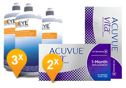 Acuvue Vita & EyeDefinition Soft Peroxide MPS Promo Pack
