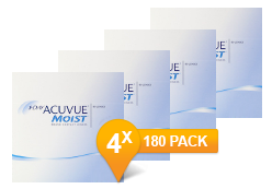 1-DAY ACUVUE® MOIST jaar Promo Pack