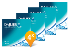 Dailies Aquacomfort Plus Paquet Promo 6 Mois